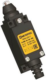 MTB4-LZ8111 (AE-8111), Выключатель концевой, 6 A NO+NC, IP65, кнопка нажимная