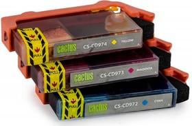 Набор картриджей CACTUS СS-CD972/3/4 №920XL, голубой / желтый / пурпурный