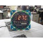 Фото 2/4 NM8017, Электронные часы на светодиодах с будильником и датчиком температуры - набор для пайки