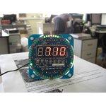 Фото 3/4 NM8017, Электронные часы на светодиодах с будильником и датчиком температуры - набор для пайки