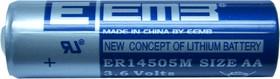 ER14505M (А316/LR06/AA), Элемент питания литиевый 1800mAh, 14.5х50.5(1шт) 3.6В, высокотоковый