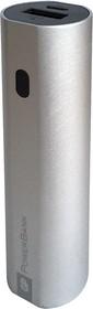 GPFN03 (серебро), Внешний аккумулятор, универсальный, портативный (3000mAh) USB- micro USB, 1.2A