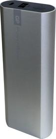GPFN05 (серебро), Внешний аккумулятор, универсальный, портативный (5200mAh) USB- micro USB, 2.1A