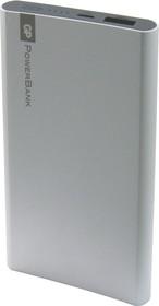 Фото 1/2 GPFP05 (серебро), Внешний аккумулятор портативный, Power Bank (5000mAh) USB- micro USB, 2.1A