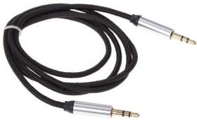 PL1008, Кабель 3.5 Jack (M) - 3.5 Jack (M) текстиль, 2м, черный