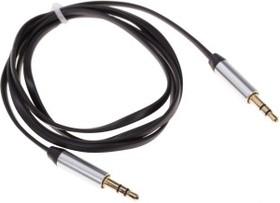 PL1016, Кабель 3.5 Jack (M) - 3.5 Jack (M) плоский, 1м, черный