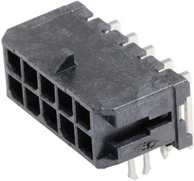 Фото 1/2 43045-1023, Разъем типа провод-плата, 3 мм, 10 контакт(-ов), Штыревой Разъем, Micro-Fit 3.0 43045 Series