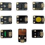 DFR0018, Add-On Board, Gravity Series Sensor Kit For Arduino, 9 x Assorted Sensors