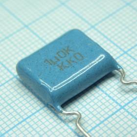 Фото 1/2 К73-17, 1 мкФ, 63 В, 10%, Конденсатор металлоплёночный