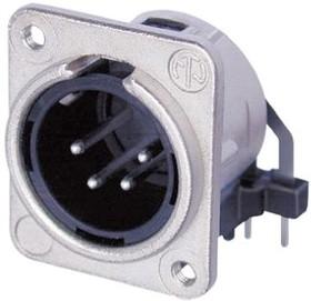 NC4MDM3-H, Universal D-size XLR pane