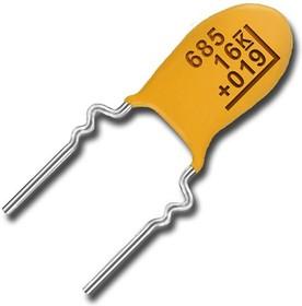 Фото 1/3 T356A225K016AT, Cap Tant Solid 2.2uF 16V 10% (4.5 X 8.6mm) Radial 5.08mm 125°C Bulk