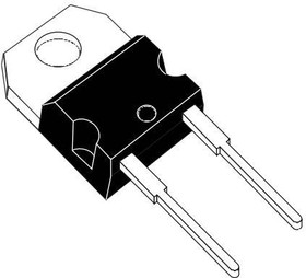 Фото 1/2 STPS20M60D, Rectifier Diode Schottky 60V 20A 2-Pin(2+Tab) TO-220AC Tube
