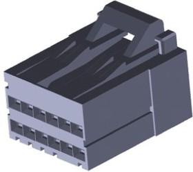 2-1318118-6, Conn Housing RCP 12 POS 2.5mm Crimp ST Cable Mount Black Bag