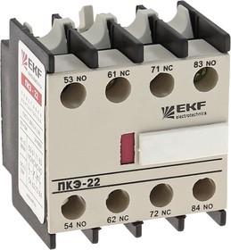 Приставка контактная ПКЭ-22 2NO+2NC EKF PROxima