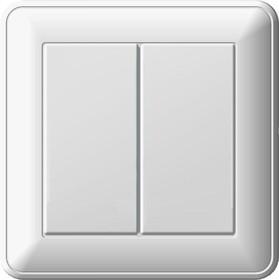 W59 Выключатель двухклавишный скрытый 16А белый