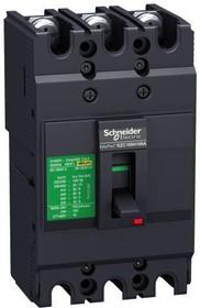 Выключатель автоматический трехполюсный 80А 10кА EZC100F