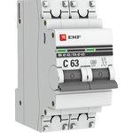 Выключатель автоматический модульный 2п B 10А 4.5кА ВА 47-63 ...