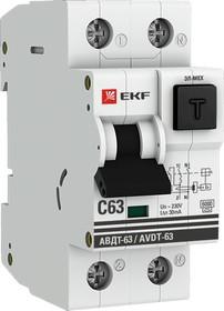 Дифференциальный автомат АВДТ-63 40А/30мА (характеристика C, эл-мех тип A) 6кА EKF PROxima