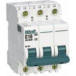 Выключатель автоматический модульный 3п C 6А 4.5кА ВА-101 SchE 11076DEK
