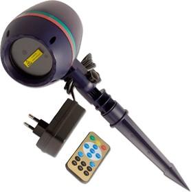 Фото 1/2 BM1114, Светильник с лазерными эффектами для праздника, ПДУ, уличный, влагозащищенный