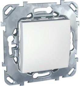 UNICA Выключатель одноклавишный в рамку белый