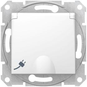 Фото 1/2 Механизм розетки 1-м СП Sedna с защ. крышкой защ. шторки с заземл. бел. SchE SDN3100121
