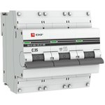 mcb47100-3-35C-pro, Автоматический выключатель ВА 47-100 3P 35А (C) 10kA EKF PROxima