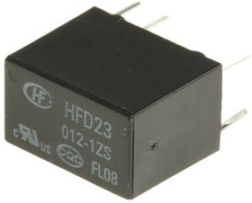 HFD23/012-1ZS РЕЛЕ, Реле 1пер. 12VDC, 2A/125VAC