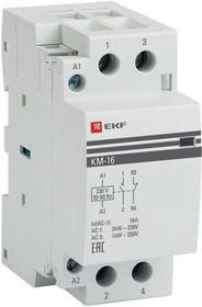 Контактор модульный КМ 16А NО+NC (2 мод.) EKF km-2-16-11