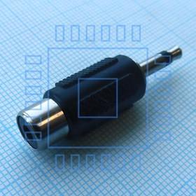 AD6018 TS штекер 3,5 - RCA гнездо, переходник моно 3.5 шт. - тюльпан гнездо