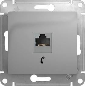 Механизм розетки телеф. 1-м СП Glossa RJ11 алюм. SchE GSL000381T