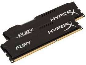 Модуль памяти KINGSTON HyperX FURY Black Series HX318C10FBK2/16 DDR3 - 2x 8Гб 1866, DIMM, Ret