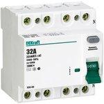 Выключатель дифференциального тока (УЗО) 4п 32А 30мА тип AC ...