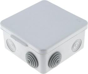 Коробка распаячная с крышкой КМР-030-031 наружная 85х85х50 АБС серая 7 входов IP54 PROxima