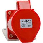 Розетка 115 16А 380В AC 3P+PE+N 6ч для монтажа на ...