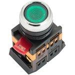 Кнопка ABLFS-22 с подсветкой зеленый NO+NC 230В PROxima