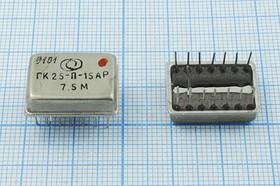 Кварцевый генератор 7.5МГц 5В/TTL в корпусе Терек, гк 7500 \\ТЕРЕК\TTL\5В\ ГК25-П-15АР\