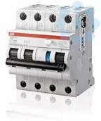 Выключатель автоматический дифференциального тока 4п C 16А 30мА тип A 6кА DS203NC ABB 2CSR256140R1164