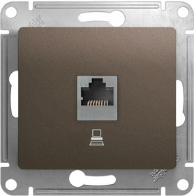 Механизм компьютерной розетки 1-м Glossa RJ45 кат.5е шоколад SchE GSL000881K