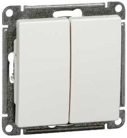 W59 Выключатель двухклавишный, 10АХ, механизм, белый