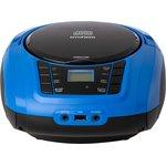 Аудиомагнитола Hyundai H-PCD340 черный/синий ...