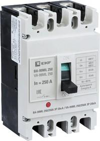 Выключатель авт. 3п ВА-99МL 250/250А 20кА Basic EKF mccb99-250-250mi