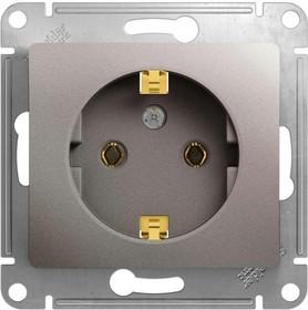 Механизм розетки 1-м Glossa 16А 250В с заземл. платина SchE GSL001243