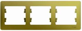 GLOSSA рамка 3-постовая горизонтальная фисташковый