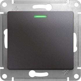Механизм выключателя 1-кл. СП Glossa сх. 1а 10А IP20 10AX с подсветкой графит SchE GSL001313