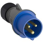 Вилка кабельная Easy&Safe 216EP6 16А 2P+E IP44 6ч ABB 2CMA101947R1000