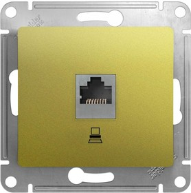 Механизм розетки комп. 1-м Glossa RJ45 кат.5е фисташк. SchE GSL001081K