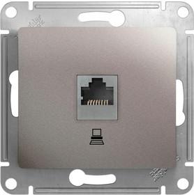 Механизм розетки комп. 1-м Glossa RJ45 кат.5е платина SchE GSL001281K