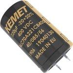 ALC70A102EH400, Электролитический конденсатор, 1000 мкФ, 400 В, ALC70 Series ...