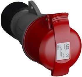 Розетка кабельная 332EC6 Easy&Safe 332EC6 32А 3P+E IP44 6ч ABB 2CMA102040R1000